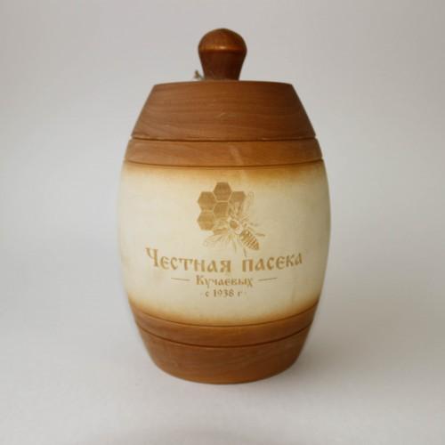 Бочонок с натуральным мёдом, 0,45 л.