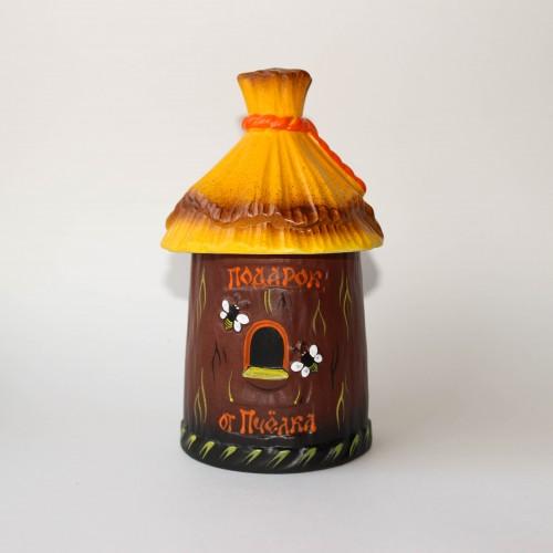 """Глиняный горшочек с мёдом """"Улей"""", 0,35 л."""