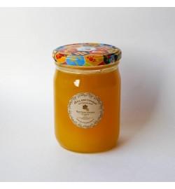 Цветочный мёд в стеклянной банке, 0,5 л.